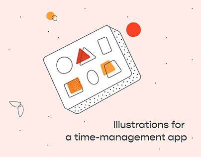 Illustrations for a Time-Management App