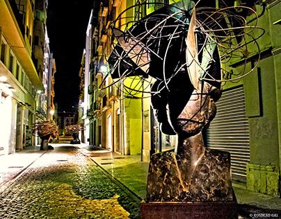 Street art. Manolo Valdés in Girona. 2009