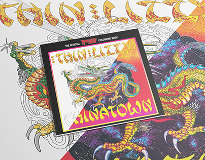 Official Thin Lizzy Adult Colouring book