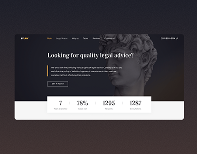Law Firm - Landing Page UI