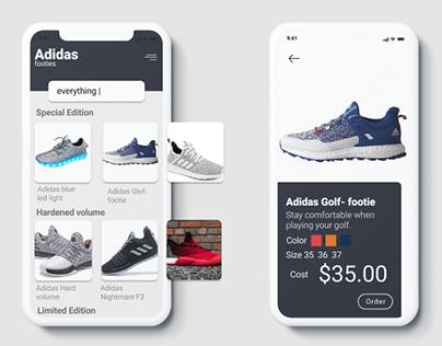 Adidas App redesign