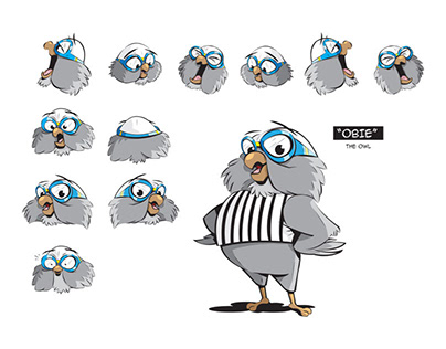 """CHARACTER DESIGN - """"OBIE"""" THE OWL"""