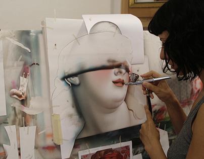 Procesos de la pintura con aerógrafo