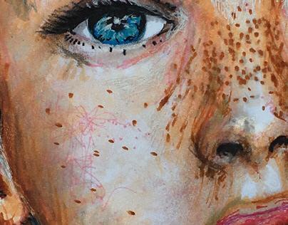 Woman's Face Illustration