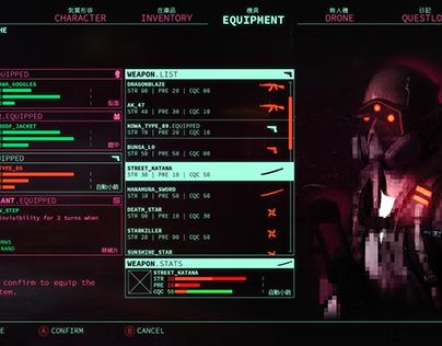 Cyberpunk game UI
