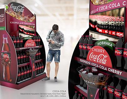 Display and Shelving fo Coca Cola Chery