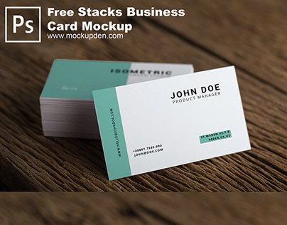 Free Stacked Business Card Mockup PSD Template