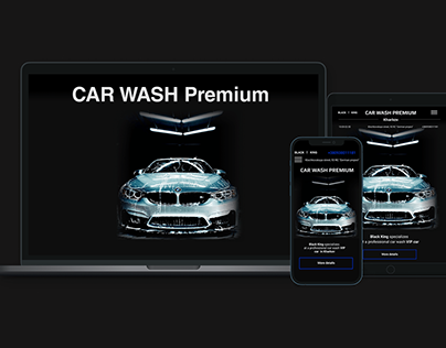 Landing page Car Wash Premium