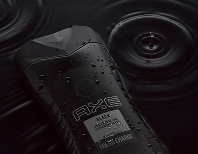 AXE BLACK shower gel – Product Photography