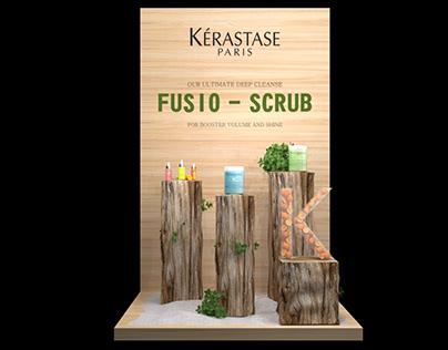 Fusio Scrub Products Display