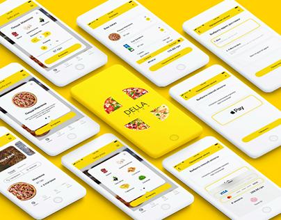 Della pizza, delivery mobile app