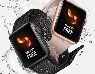 Free mock up apple watch