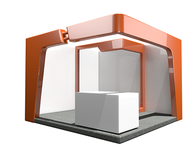 3d Rendered Mall Booth