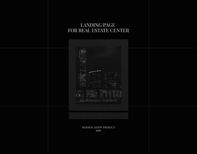 Landing page for real estate center