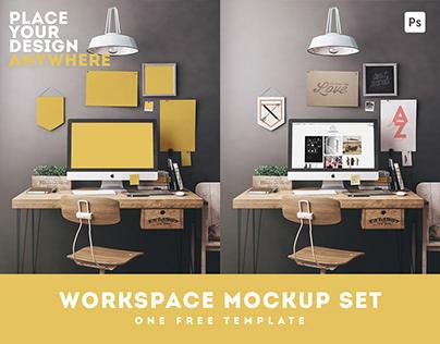 Workspace Mockup Set / Free Mockup