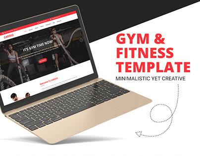 Cardio | Gym & Fitness PSD Template
