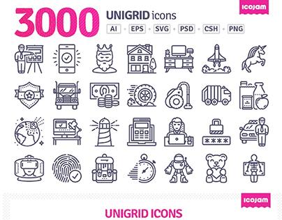 3000 Unigrid icons