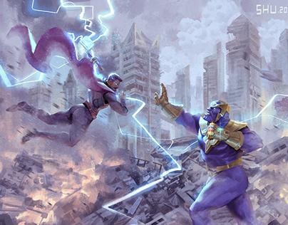 Thor & Thanos