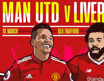 Man Utd V Liverpool for LiveWire Sport