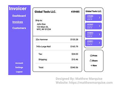 Daily UI 046 :: Invoice