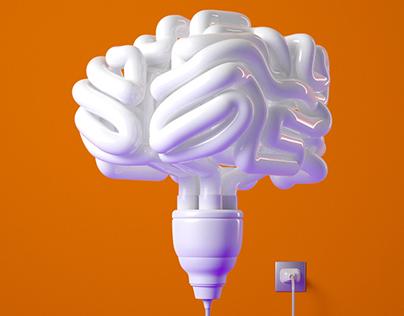 Fortune Magazine // Electrify Your Mind Illustration