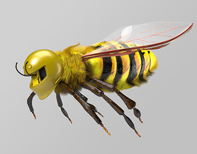 Bee 3D motion graphic