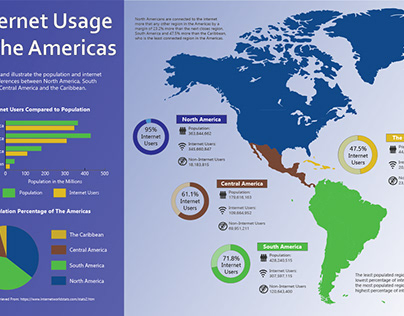 Infographic of Internet Usage in America