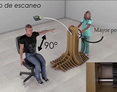 Escaneo de extremidades para el uso de ferulas