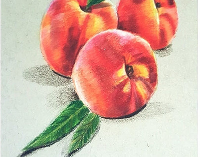 Peaches made with colorpencil