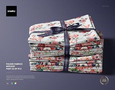 Folded Fabrics Mockup (22/FFv.6)