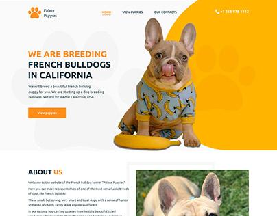 Design concept for the website dog kennel