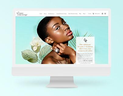 The Beauty Concierge Website and Branding