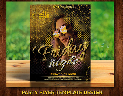 Party Flyer Design Template