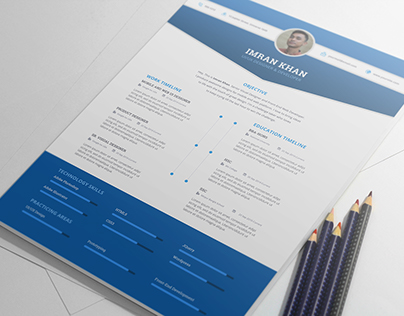 FREE Resume Template PSD (4 Colors)