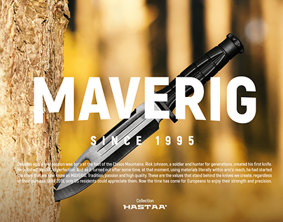 Photoshoot for Maverig - Knives from Hastaa collection