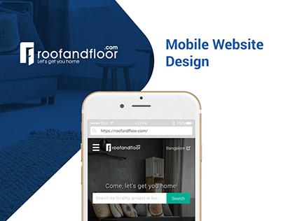 Mobile Website Design - UI/UX - RoofAndFloor.com
