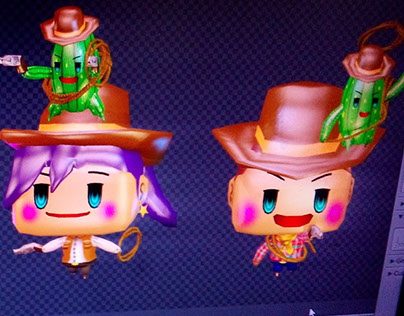 Wild West themed characters for mms & animated stickers