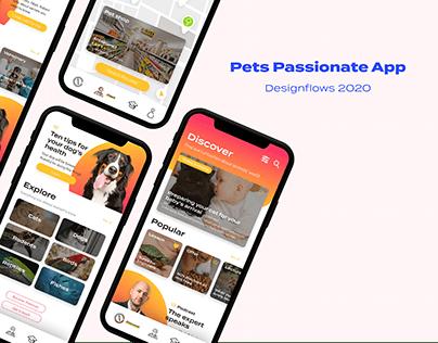 Pets Passionate App - Bending Spoons Designflows 2020