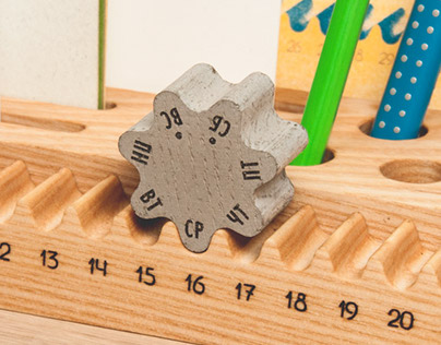 7/12 - Desk organizer and perpetual calendar