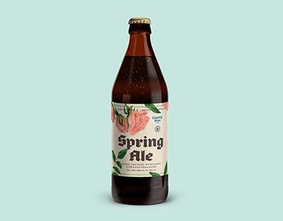 Caspary Spring Ale label