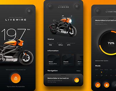 LiveWire Mobile App (Harley Davidson)