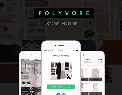 Polyvore redesign concept