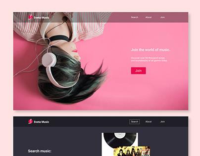 Product Design for a music platform.