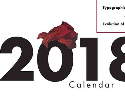 2018 Calendar - Exploring typographic styles