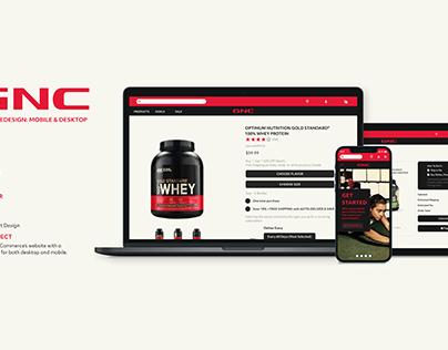 GNC Website Redesign (Mobile & Desktop)