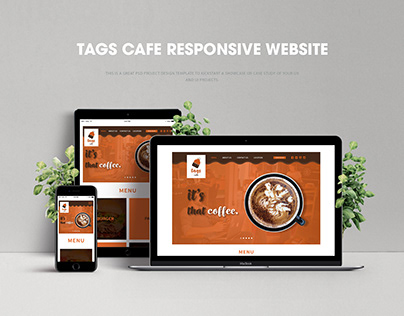 TAGS CAFE RESPOSIVE WEBSITE TEMPLATE