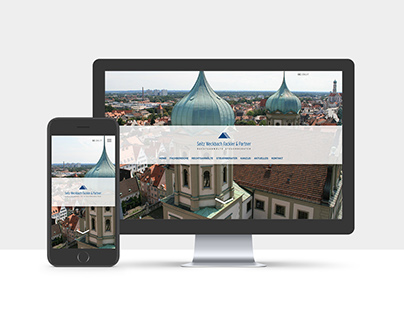 Website for a law and tax consultancy firm