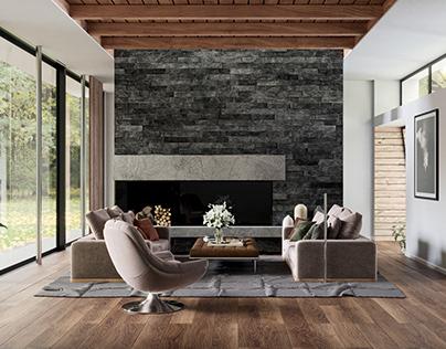 Contemporary Living Room - Milano