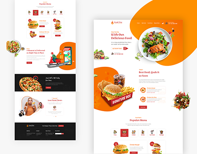 Food Fire Restaurant Landing Page
