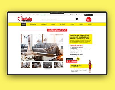UI/UX – Möbel Ludwig – Redesign Onlineshop